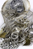 Scrap sterling silver Royalty Free Stock Images