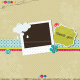 Scrap template vector illustration