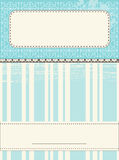Scrap Template for greeting card. Scrap Template for post card royalty free illustration