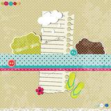 Scrap template with flip flops vector illustration