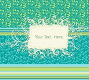 Scrap template of vintage patternsn. With space for your text royalty free illustration