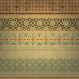 Scrap template, vintage seamless patterns. Can be used separetely, old paper texture royalty free illustration