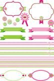 frameworks and ribbons set Royalty Free Stock Images