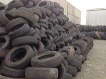 Scrap tyres Stock Photo