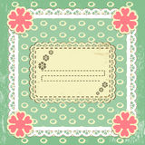 Scrap vintage frame on grange background. Scrap template of vintage worn distressed design with blank space for your text royalty free illustration