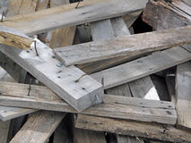 Scrap Wood with Nails. Royalty Free Stock Photo