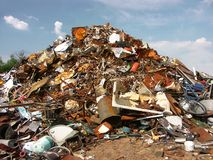 Scrap yard Royalty Free Stock Image