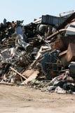 Scrap yard. Pile of junk in a scrap yard Stock Photos