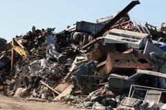 Scrap yard. Pile of junk in a scrap yard Royalty Free Stock Photography