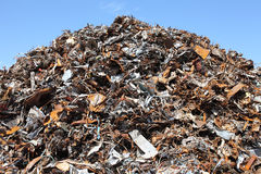 Scrap yard. Garbage dump of metal and iron Royalty Free Stock Image