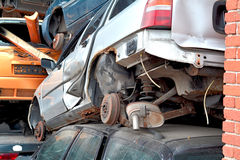 In a scrap yard Stock Photography