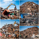 Scrap yard collage Stock Images