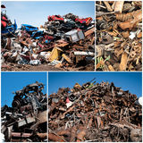 Scrap yard collage Royalty Free Stock Photos