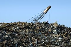 Scrap Yard Crane Stock Photos