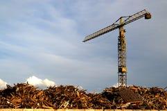 Scrap Yard Crane Stock Image