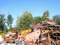 Scrap yard metal junk Stock Image