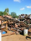 Scrap yard metal waste Royalty Free Stock Images