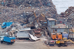 Scrap yard recycling Stock Image