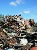 Scrap yard used metal waste Royalty Free Stock Images