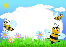 scrapbook пчелы иллюстрация штока