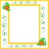 scrapbook рамки цветка Стоковая Фотография RF