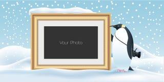 Scrapbook с иллюстрация вектором предпосылки Нового Года, рождества или зимы иллюстрация штока