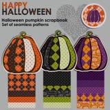 Scrapbook тыквы хеллоуина Стоковое Изображение