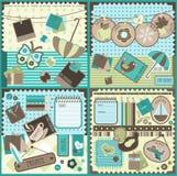 scrapbook элементов рождества стоковые изображения