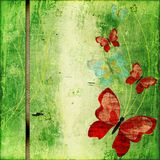 Scrapbook. Abstract background with butterflies in scrapbooking style Stock Image