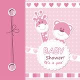 вектор scrapbook девушки карточки младенца Стоковая Фотография