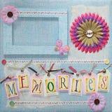 Scrapbook album cover Stock Image