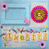 Scrapbook album cover Royalty Free Stock Images