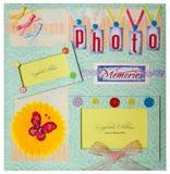 Scrapbook album design Royalty Free Stock Image