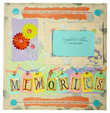 Scrapbook album design Stock Photography