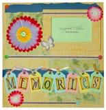 Scrapbook album design Stock Photos