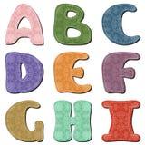 Scrapbook alphabet Stock Photos