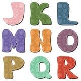 Scrapbook alphabet Stock Image