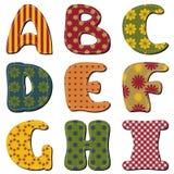 Scrapbook alphabet Royalty Free Stock Photo
