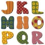 Scrapbook alphabet Royalty Free Stock Image