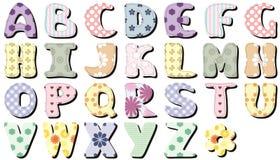 Scrapbook letters on white background illustration Stock Photo