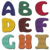 Scrapbook alphabet Royalty Free Stock Images