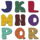Scrapbook alphabet Stock Images