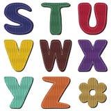 Scrapbook alphabet Royalty Free Stock Photos
