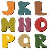 Scrapbook alphabet on white background Royalty Free Stock Photo