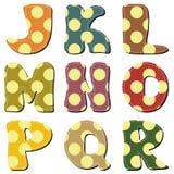 Scrapbook alphabet on white background Royalty Free Stock Photography