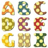 Scrapbook alphabet on white background. Scrapbook alphabet different ornament on white background illustration vector illustration