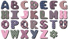 Scrapbook alphabet on white background. Different ornaments vector illustration