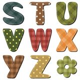 Scrapbook alphabet on white background Stock Images