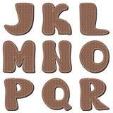 Scrapbook alphabet on white background Royalty Free Stock Images