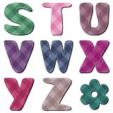 Scrapbook alphabet on white background Stock Photography